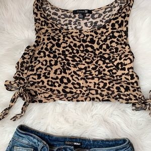 Printed Cropped Top 🐯